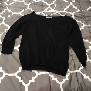 Joseph A. black 3/4 sleeve sweater